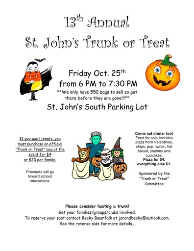 13th Annual Trunk or Treat