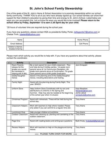 2019-20 Stewardship Form